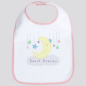 Sweet Dreams Moon and Stars Baby Bib