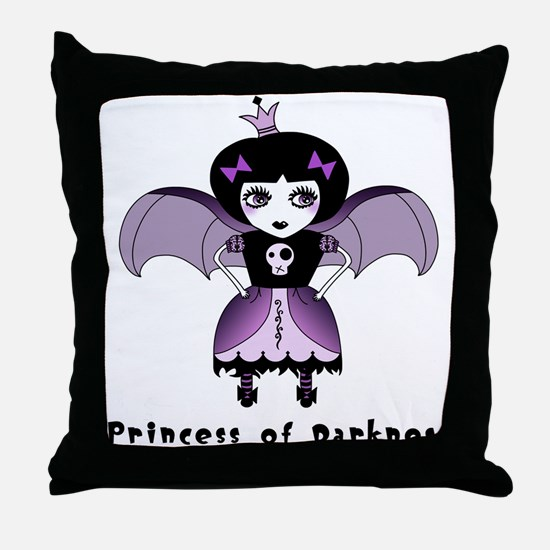 Princess of Darkness Gothic Throw Pillow