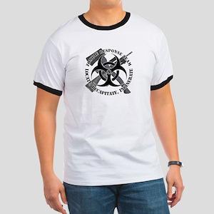 Zombie Response Team White Border Ringer T