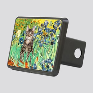 Irises / Tiger Cat Rectangular Hitch Cover