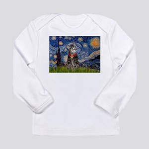 Starry Night / Tiger Cat Long Sleeve Infant T-Shir