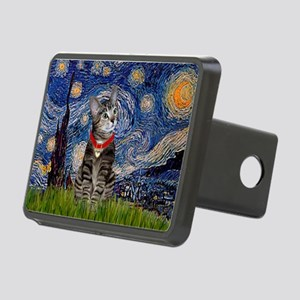 Starry Night / Tiger Cat Rectangular Hitch Cover