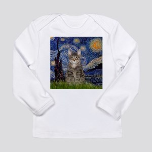 Starry Night & Tiger Cat Long Sleeve Infant T-Shir