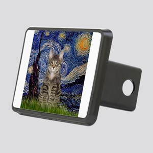 Starry Night & Tiger Cat Rectangular Hitch Cover