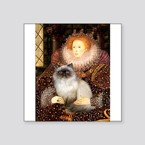 "5.5x7.5-QUEEN-Himalayan Square Sticker 3"" x 3"""
