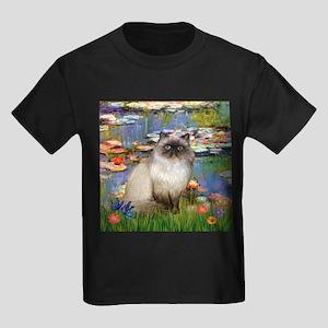 TILE-Lilies2-HimilayanJF Kids Dark T-Shirt