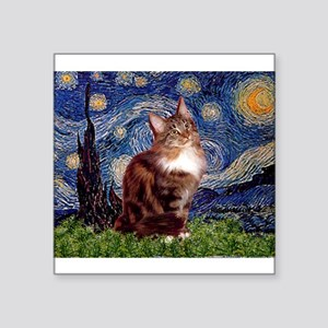 "5.5x7.5-Starry-MCoon12B Square Sticker 3"" x 3"""