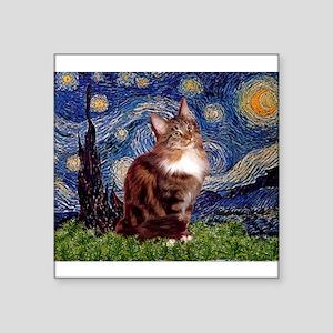 "5.5x7.5-Starry-MCoon12B Square Sticker 3"" x 3"""