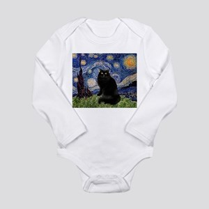 Starry Night /Persian (bl) Long Sleeve Infant Body