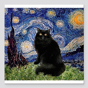 Starry Night /Persian (bl) Square Car Magnet 3&quo