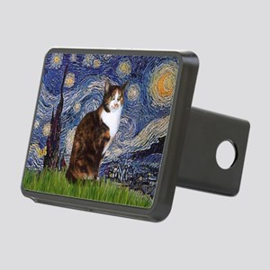 TILE-Starry-CalicoSH Rectangular Hitch Cover