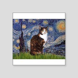 """TILE-Starry-CalicoSH Square Sticker 3"""" x 3"""""""