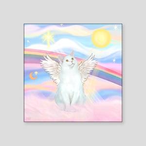 """Clouds / (White) Cat Square Sticker 3"""" x 3"""""""
