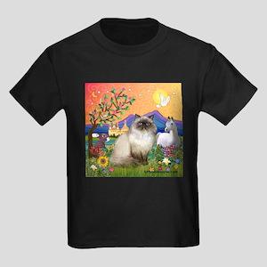 TILE-Fantasy-HimilayanJF Kids Dark T-Shirt