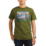 Lilies / Ragdoll Organic Men's T-Shirt (dark)