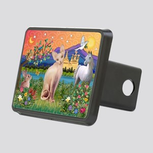 3-TILE-Fantasy-Sphynx1 Rectangular Hitch Cover