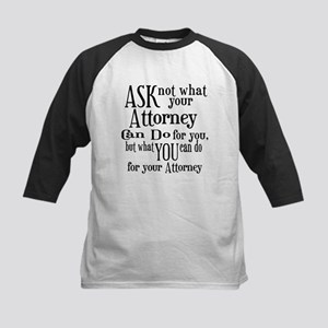 Ask Not Attorney Kids Baseball Jersey