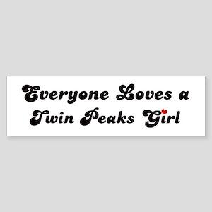Twin Peaks girl Bumper Sticker