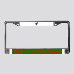 Man With Gifts License Plate Frame