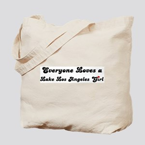 Lake Los Angeles girl Tote Bag