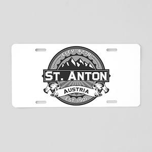 St. Anton Grey Aluminum License Plate