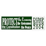 Protect...Dump Bush Bumper Sticker