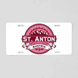 St. Anton Honeysuckle Aluminum License Plate