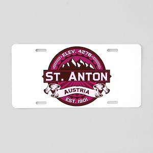 St. Anton Raspberry Aluminum License Plate
