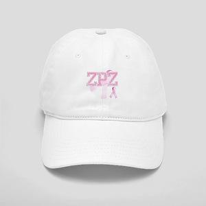 ZPZ initials, Pink Ribbon, Cap