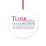 Turk Leadership Ornament (Round)