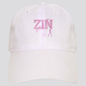 ZIN initials, Pink Ribbon, Cap