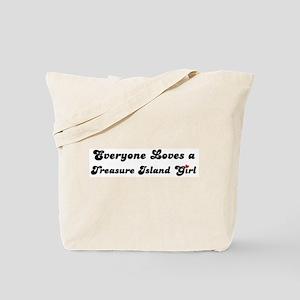 Treasure Island girl Tote Bag
