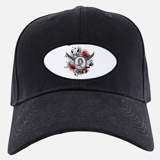 Wings and Ribbon Brain Cancer Baseball Hat