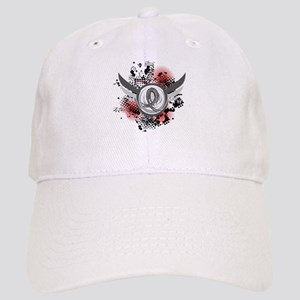 Wings and Ribbon Brain Cancer Cap