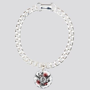 Wings and Ribbon Brain Cancer Charm Bracelet, One