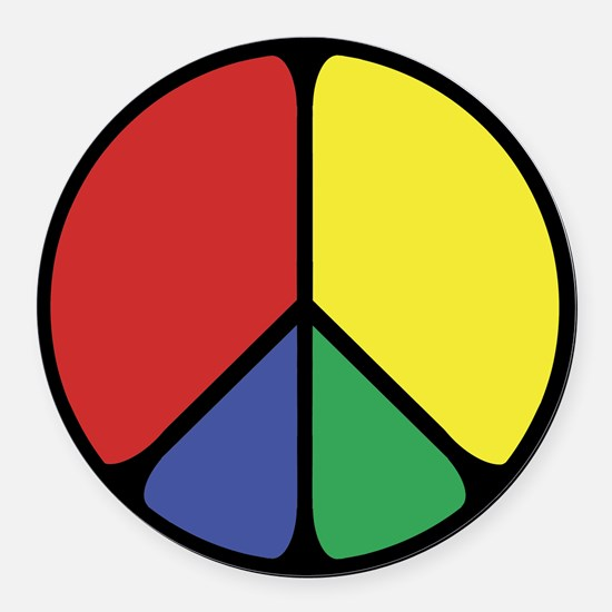 Elegant Peace Color Round Car Magnet