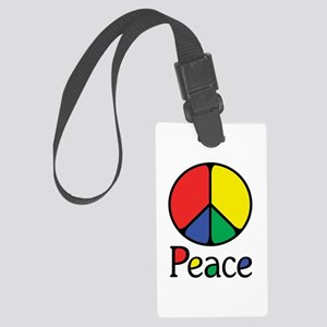 Emphatic Peace Colours Large Luggage Tag