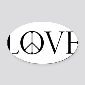 LovePeaceII Oval Car Magnet