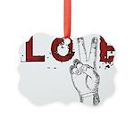 Love Peace V Picture Ornament