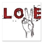 Love Peace V Square Car Magnet 3