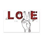 Love Peace V Rectangle Car Magnet
