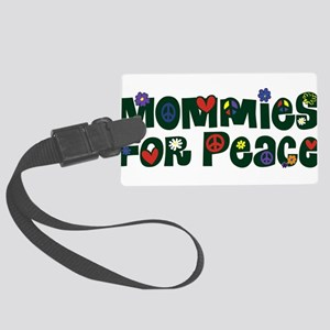 Mommies for Peace Merged Large Luggage Tag
