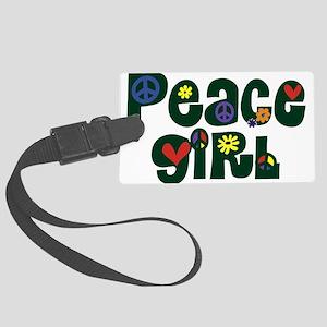 Peace Girl Large Luggage Tag