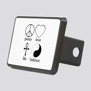 Peace Love Life Balance square II Rectangular