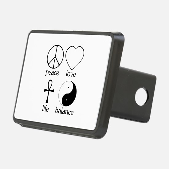Peace Love Life Balance square II.png Hitch Cover