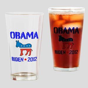 Obama Biden 2012 Drinking Glass