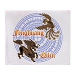 Qilin & Fenghuang Throw Blanket