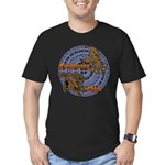 Qilin & Fenghuang Men's Fitted T-Shirt (dark)