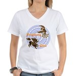 Qilin & Fenghuang Women's V-Neck T-Shirt