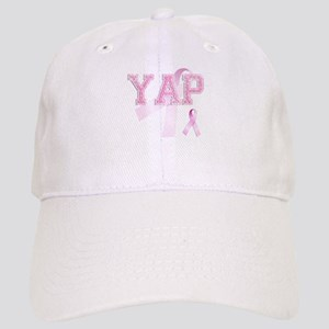 YAP initials, Pink Ribbon, Cap